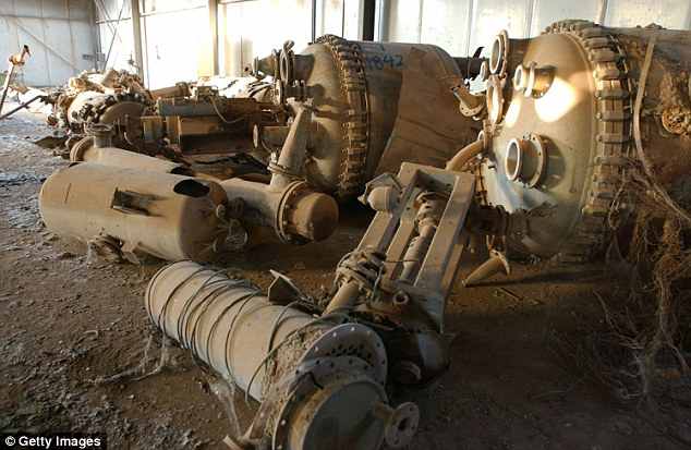 Remnants of Iraq's chemical weapons program at the Muthanna State Establishment. It was destroyed by American bombs during the 1991 Gulf War