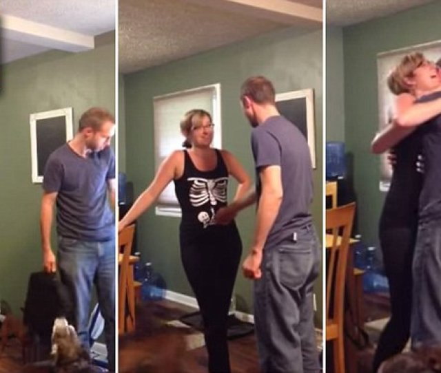 Woman Uses Halloween T Shirt To Tell Her Husband Shes Saveenlarge  C B  Halloween Themed Pregnancy Announcement