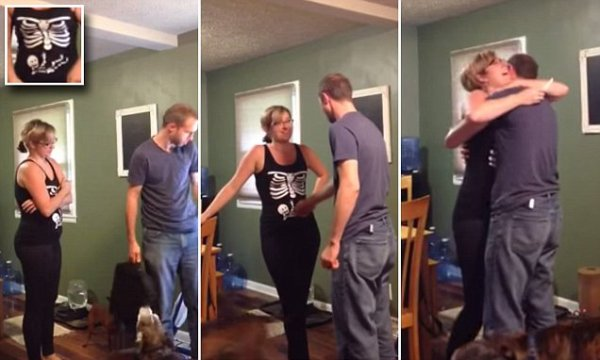 Woman uses Halloween T-shirt to tell her husband she's ...