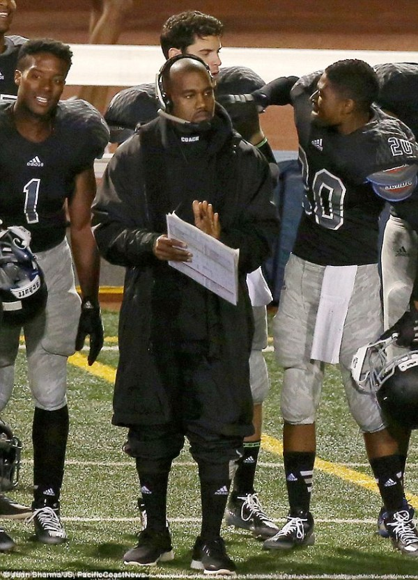Kanye West heads up football team on set of Big Sean's ...