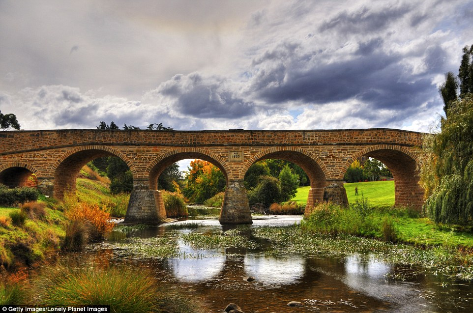 Richmond Bridge is a heritage listed arch bridge, 25 kilometres north of Hobart in Tasmania