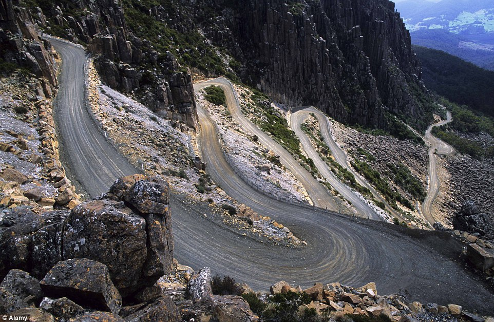 The Ben Lomond mountain is dominated by an alpine plateau over 1500 metres high, it is the main destination for downhill skiing in Tasmania. The windy road to the top is know as Jacob's Ladder