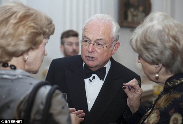 Fiona Woolf (left) was with Lady Brittan (right) at the 2013 Dragon Awards at Mansion House in October last year - alongside journalist Martyn Lewis (centre) - but did not mention this meeting to MPs