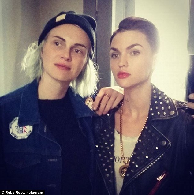 Ruby Rose Poses With Fiance Phoebe Dahl After Time Apart