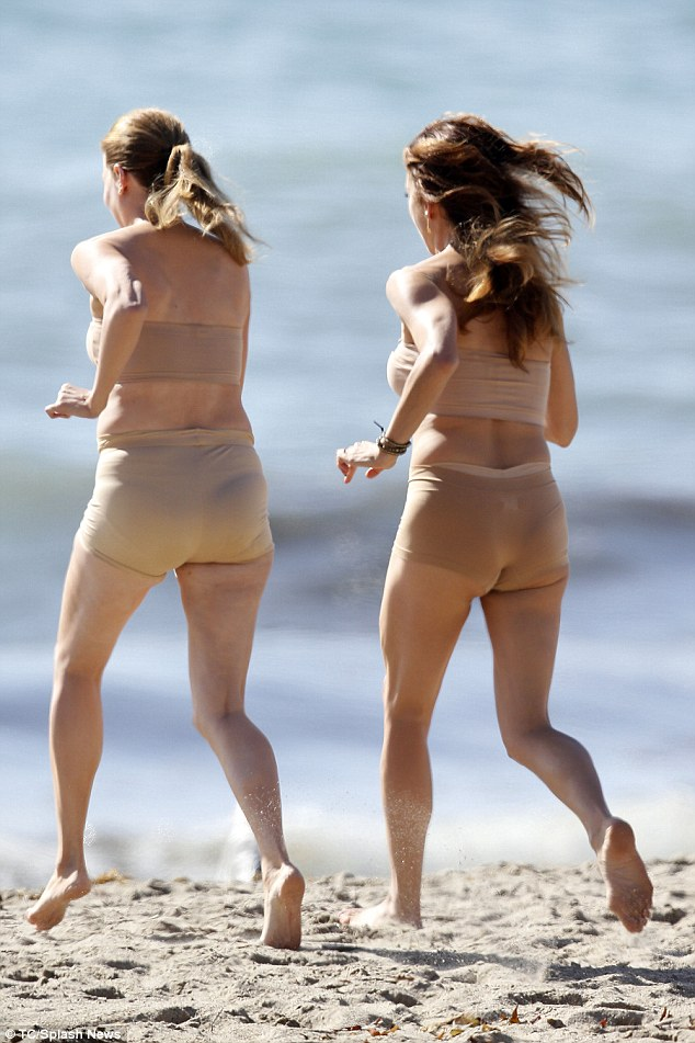 Nearly Naked Stripping Down To A Nude Suit The Former Private Practice Star Confidently