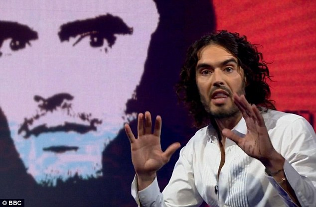 Russell Brand has launched repeated attacks on bankers and called for debt to be abolished in his new book
