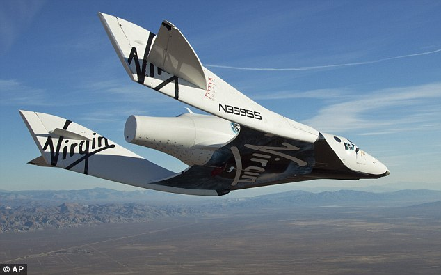 SpaceShipTwo was flying under rocket power after being released from its mothership - then Virgin tweeted that it had 'experienced an in-flight anomaly.'