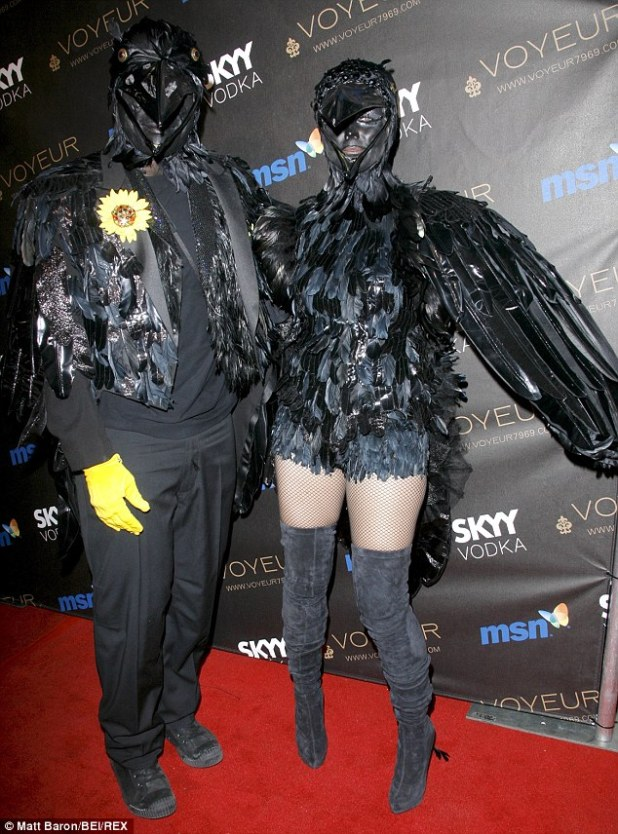 Back in black! Heidi and Seal sported his and hers crow costumes in 2009