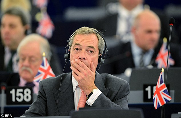 UKIP leader Nigel Farage does not draw attention to his unsavory allies in the Europe of Freedom and Direct Democracy group (EFDD)