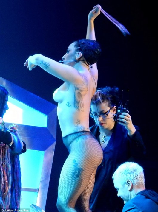 Putting her breast foot forward! Lady Gaga left little to the imagination by going completely topless during a dance rehearsal in Austria on Sunday afternoon