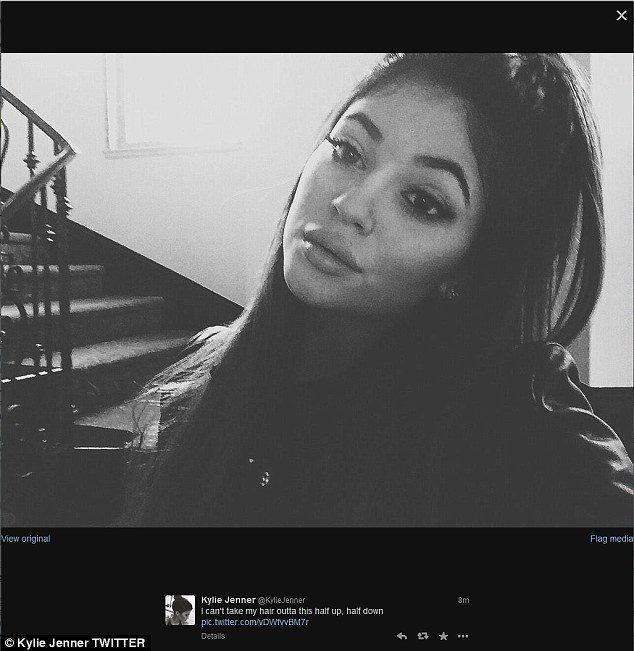 Just a-pout enough of this: On Monday, Kylie posted this black and white picture on Twitter