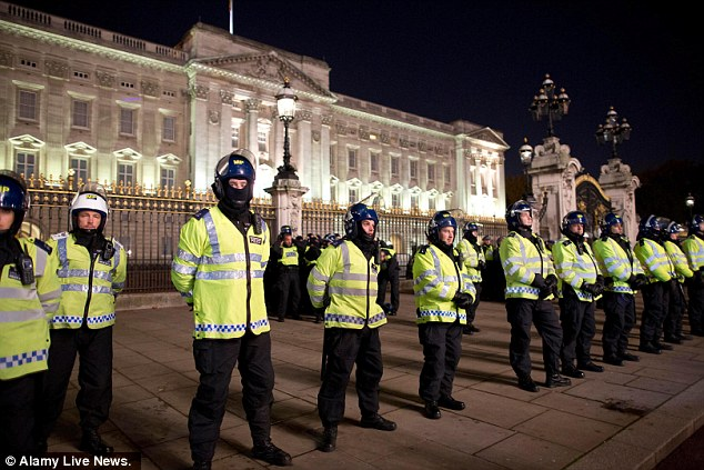 Riot police were put on high alert after warnings from the protest group that it would cause chaos in London