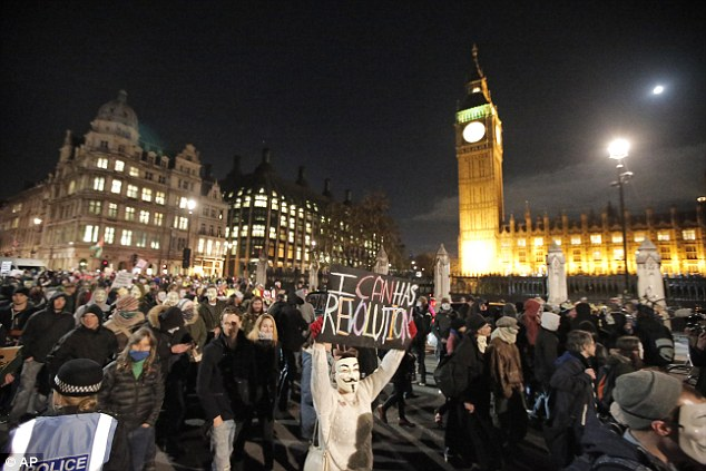 The group warned it would have 'bigger banners, louder voices, more people and a louder system' than last year's protest