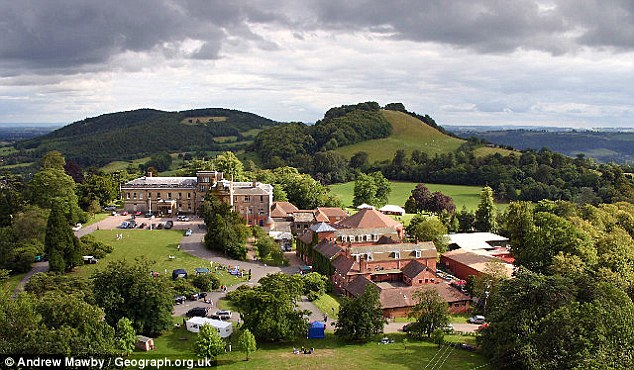 Sadler taught French at £6,600-a-term Abberley Hall (above) when Jutting was a pupil there in the early 1990s