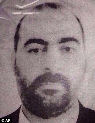 Prisoner: al-Baghdadi, shown before his rise to power, was held as a prisoner by the U.S. during the occupation of Iraq