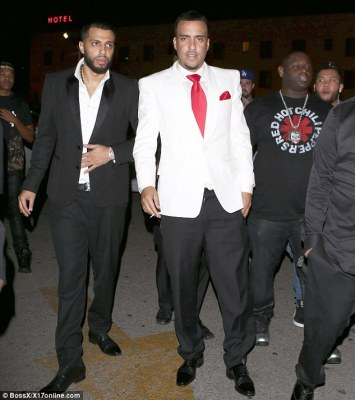 The gang's all here: French with his brother Zack (left) who is reportedly dating Amber Rose