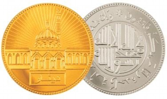 ISIS apparently wants to introduce its own currency and plans to bring back gold and silver dinar coins (above)