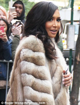 Lashing out: Kim's style stalker Naya Rivera criticised Kim's mag cover, writing on Instagram 'you are someone's mother'