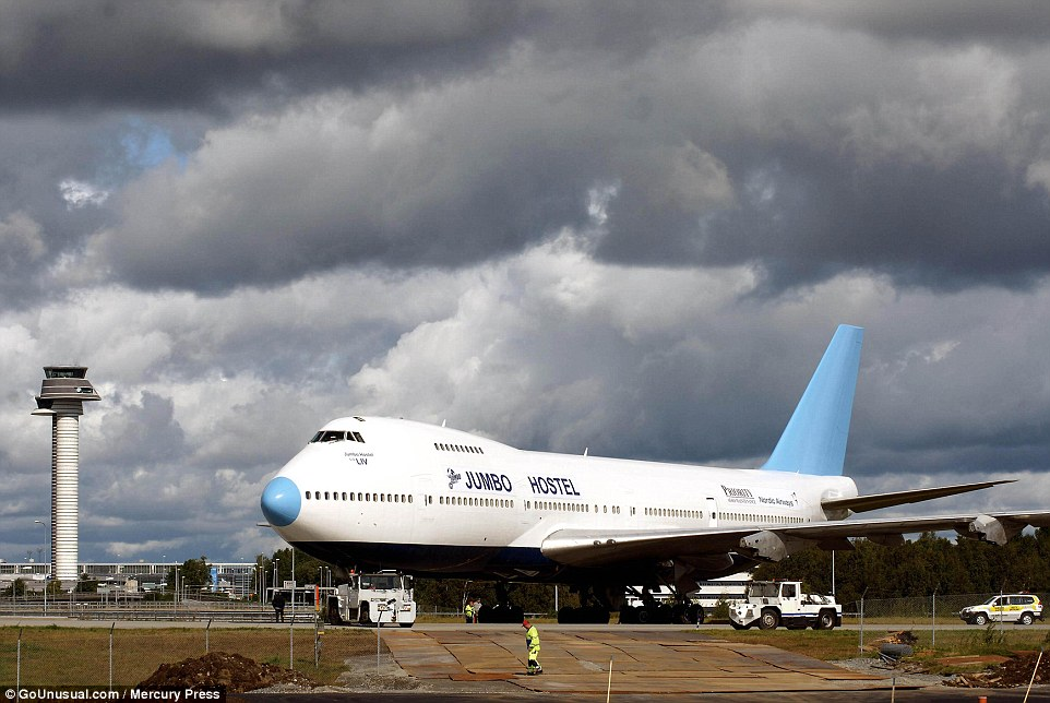 The Jumbo Jet Transformed Into A Hostel At Stockholm