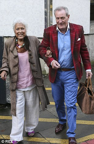 Ms Bellingham pictured leaving the ITV studios with her husband Michael Pattemore