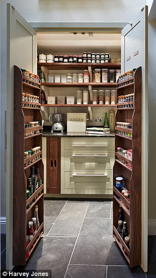 Smarten Up Your Kitchen Storage With A Fancy Pantry Daily Mail Online