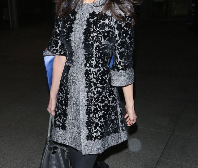 Landing In Style Amal Clooney Is The Latest Star To Work Airport Chic And Femail