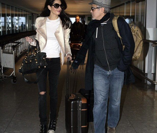 Casual But Still Chic Amal And George Clooney Today Landed At Heathrow And Whilst Her