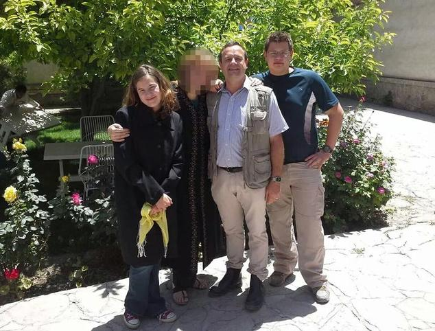 A picture released by the family shows Werner Groenewald (C), 46, son Jean-Pierre (R), 17, and daughter Rode, 15, who were killed in the latest Taliban strik...