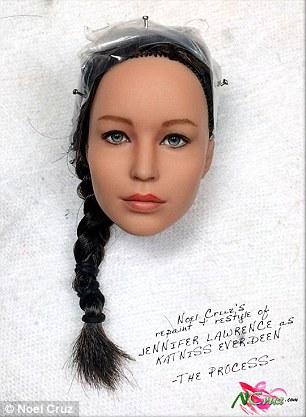 Noel Cruz Repaints Hunger Games Barbie To Look EXACTLY