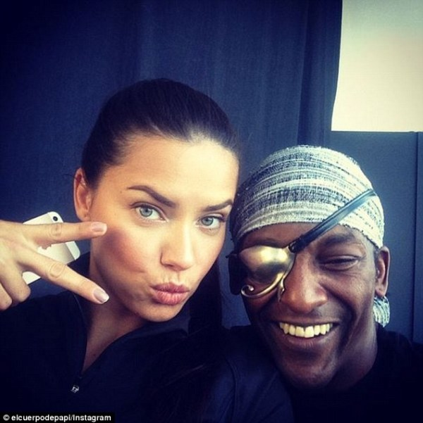 Kelly Gale poses with trainer to the stars Michael Olajide ...