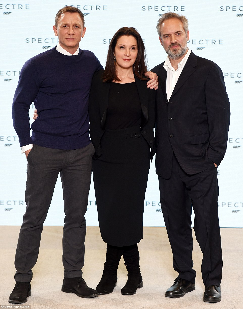 Dream team: Leading man Daniel was joined by producer Barbara Broccoli and director Sam Mendes, who after initial doubts signed up to direct the new movie