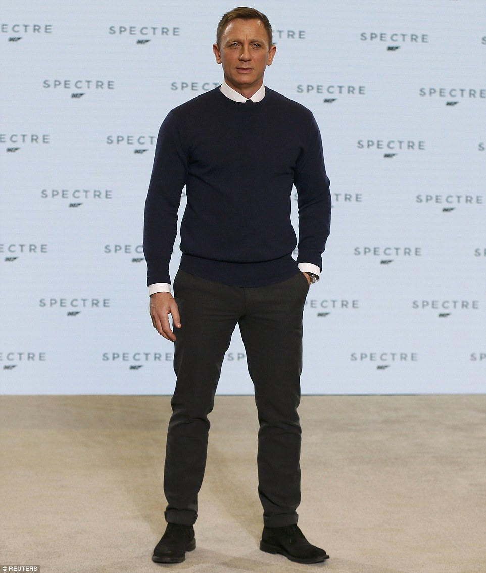 He's back! British actor Daniel Craig was officially confirmed for the 24th instalment in the James Bond franchise, entitled Spectre, at a press conference at Buckinghamshire's Pinewood Studios on Thursday