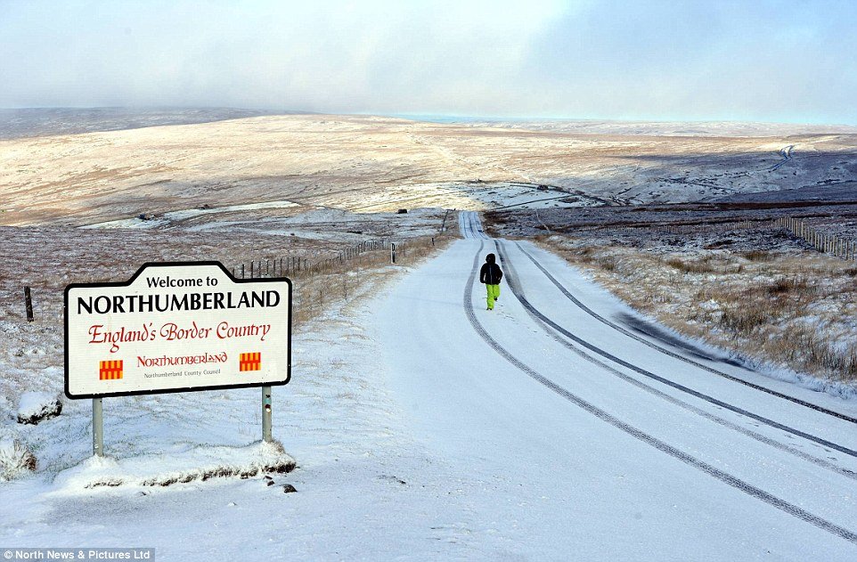 White blanket:Widespread snow and gale-force winds are forecast for early next week, with a cold air front bringing 'wet and windy' weather