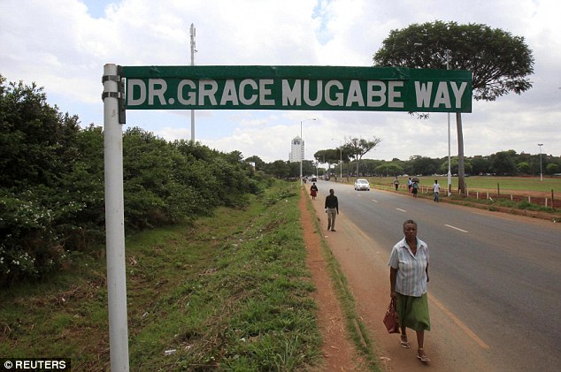 Ninety-year-old Zimbabwe President Robert Mugabe is - quite literally - paving the way for his wife's ascent to power. In another sign of the First Lady's growing clout, a new street, Dr Grace Mugabe Way, has been named after her