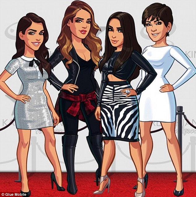 Image result for kardashian cartoon