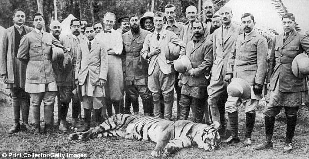 King Edward VII with his entourage in Nepal