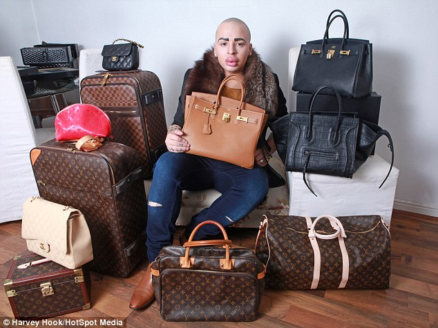 He also spends extravagant amounts of money buying the same type of luggage used by the star