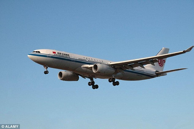 The pilot on the Air China flight threatened to turn the plane around should the violence continue (File Photo)