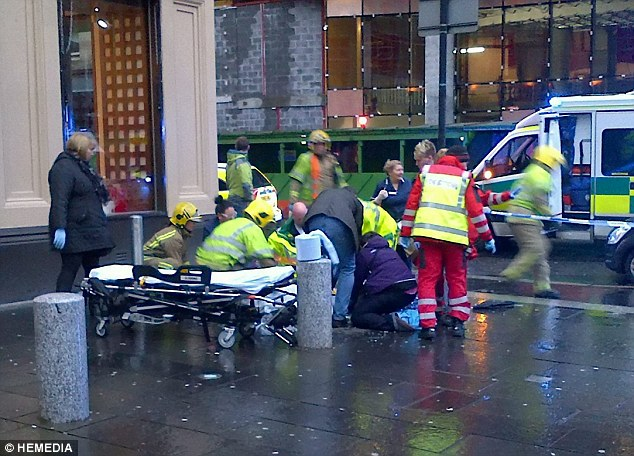 Ambulance crews battled to save those injured in the crash and witnesses reported many 'walking wounded'