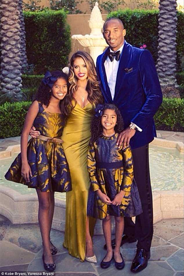 Kobe Bryants Wife Vanessa Wears A 65k Gown For Family