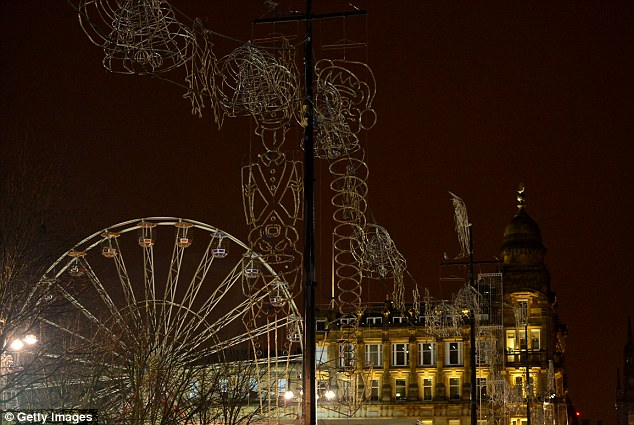 Glasgow City Council switched off the Christmas lights in George Square last night as a mark of respect