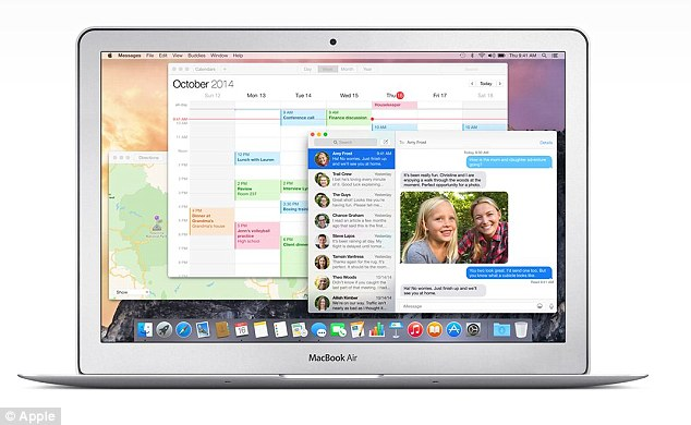 A number of severe bugs were recently discovered on Apple's OS X operating system (pictured) that left it at risk of hackers. Although Apple has had the technology to automatically update people's computers for years, it typically asks a user's permission before installing security updates of this kind