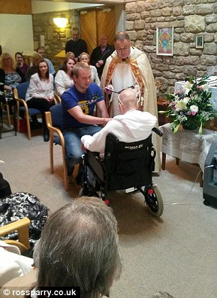 The couple married at the chapel in St John's Hospice in Lancaster after Mrs Gilhespy's condition took a turn for the worse