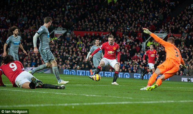 Rooney scored twice in United's 3-1 win over Newcastle at Old Trafford on Boxing Day