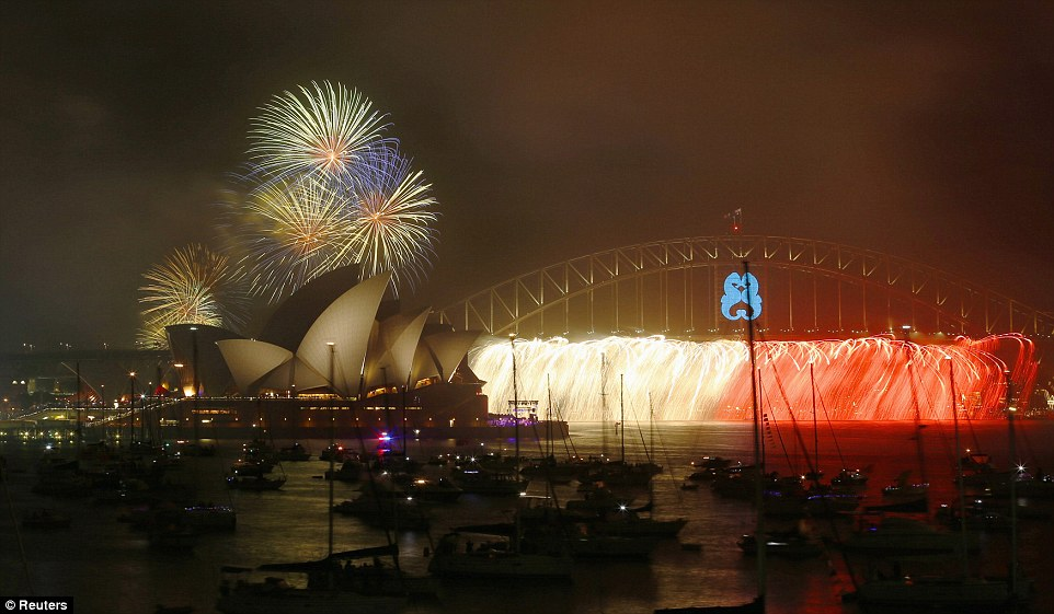 For the world: Drones will be used to live stream the fireworks as they launch from the Harbour Bridge, the Opera House and several barges
