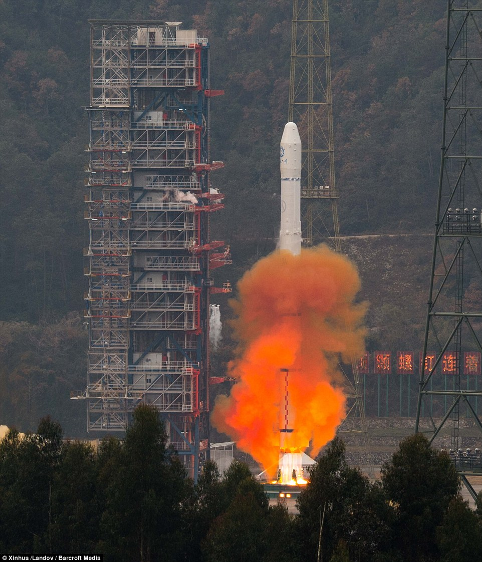 Lift off: China has marked the end of 2014 by launching a Long March-3A rocket carrying a meteorological satellite from a facility in Xichang, Sichuan Province