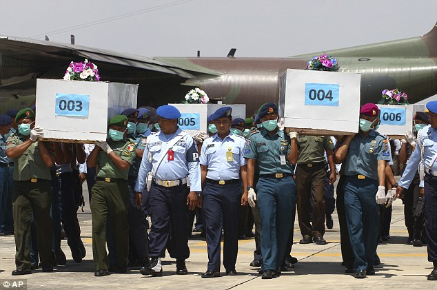 While more bodies have been recovered today, workers said it could be a week before the plane's black box is located as poor weather was making the task of finding it extremely difficult