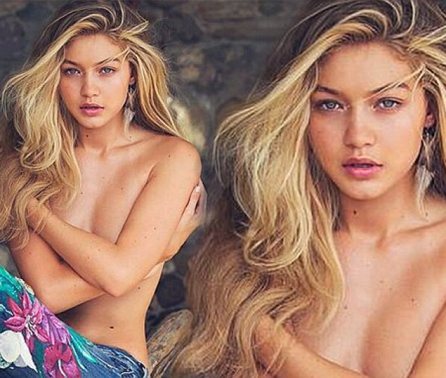 Cody Simpsons Girlfriend Gigi Hadid Poses Topless For New Guess Campaign Daily Mail Online
