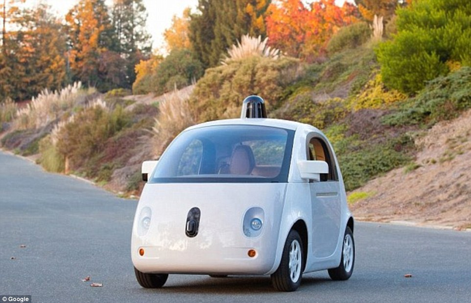 In December 2014 Google unveiled the final design for its own self-driving car (shown), but it doesn't exactly have much of an aesthetic appeal. The first version came under fire for looking like a toy car - and a new rooftop sensor means the second now looks like a toy police car