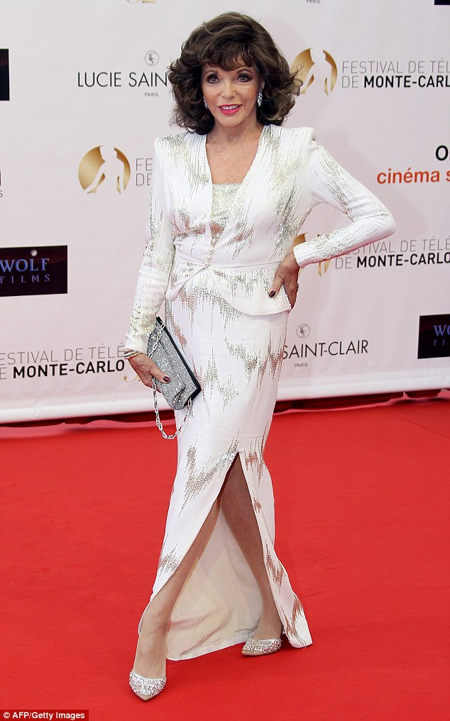Joan Collins (pictured) uses the petroleum jelly product on her heels and elbows to soften up dry areas